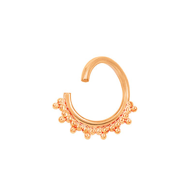 Tri-Bead Seam Ring in Solid 14k Rose Gold by Junipurr