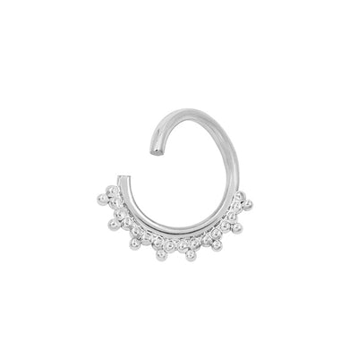 Tri-Bead Seam Ring in Solid 14k White Gold by Junipurr
