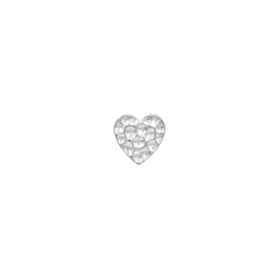 Hammered Heart in 14k Gold by Junipurr