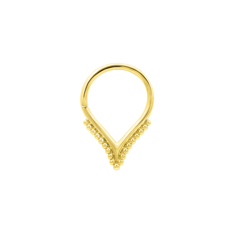 Bagheera Seam Ring in Solid 14k Gold by Junipurr