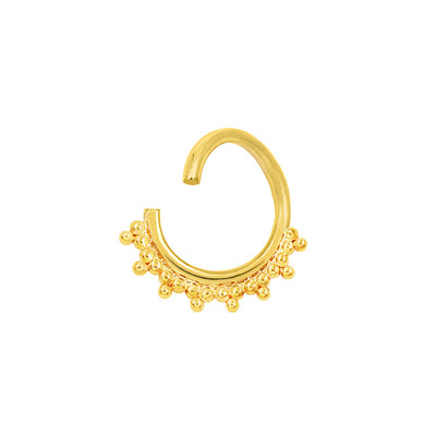 Tri-Bead Seam Ring in Solid 14k Yellow Gold by Junipurr