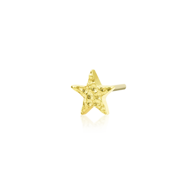 Hammered Star in 14k Gold by Junipurr