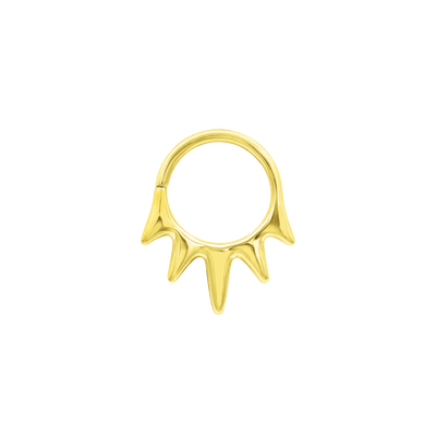 Jules Seam Ring in Solid 14k Gold by Junipurr