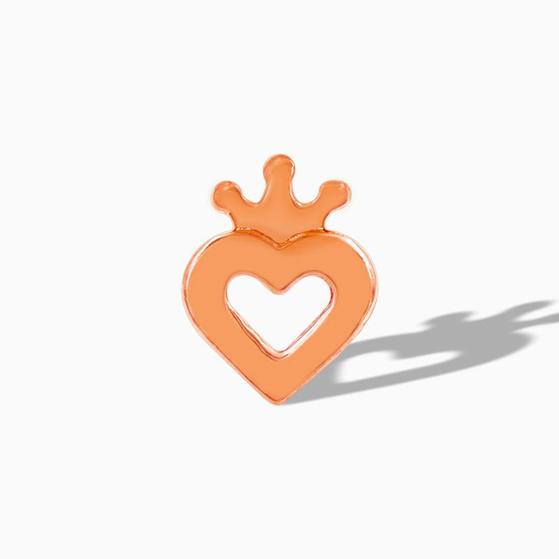 Heart with Crown in 14k Gold by Junipurr