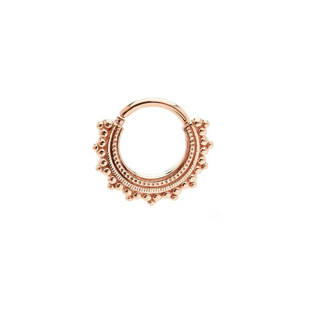 BVLA Afghan Ring in 14k Rose Gold - Pierced