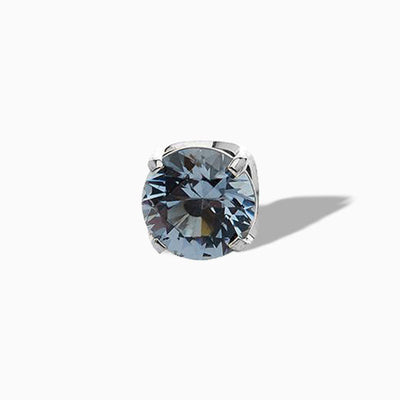 Prong-set Ocean Grey Swarovski End in Titanium by NeoMetal