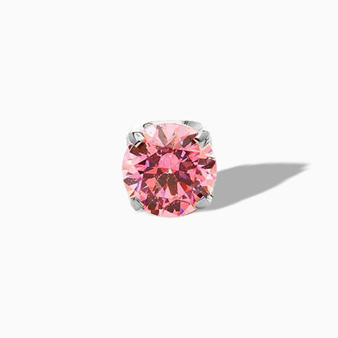 Prong-set Morganite end in Titanium by Neometal