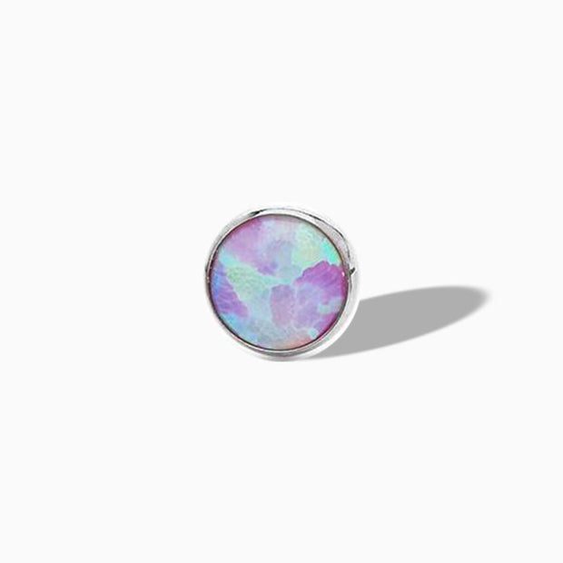 Bezel-set Pink Opal End in Titanium by NeoMetal