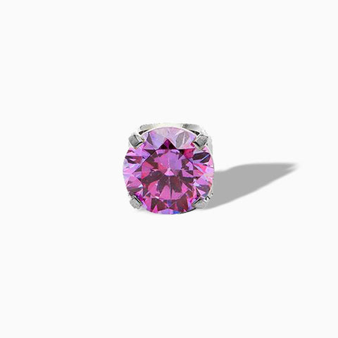 Prong-set Fancy Purple Swarovski End in Titanium by NeoMetal