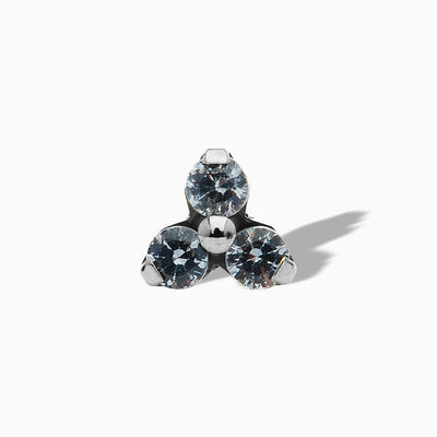 Trinity Ocean Grey Swarovski End in Titanium by NeoMetal
