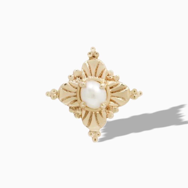 Antoinette Pearl End in 14k Yellow Gold by Buddha Jewelry