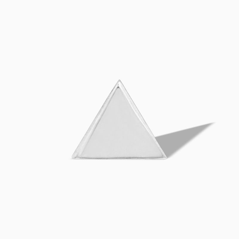 Triangle in 14k White Gold by Junipurr