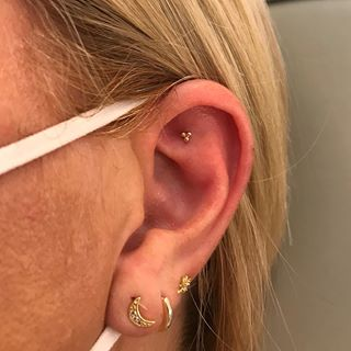 Tri-Bead in 14k Yellow Gold by Junipurr