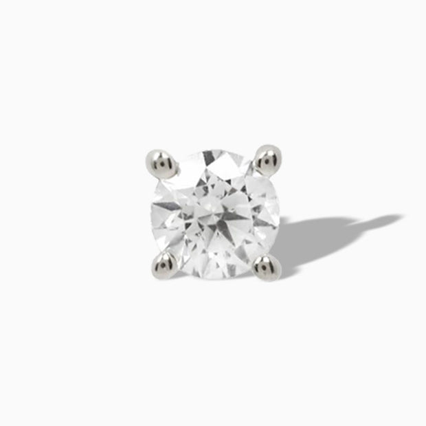 Genuine Diamond Prong in 14k White Gold by Buddha Jewelry