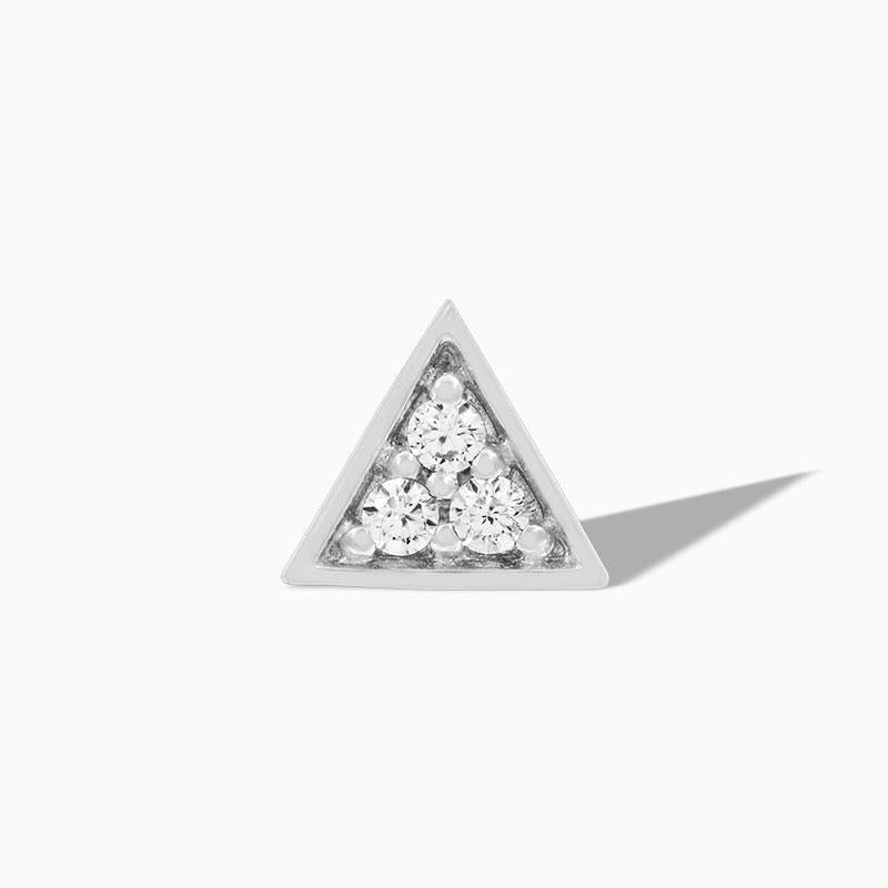 3 Swarovski Triangle in 14k Gold by Junipurr