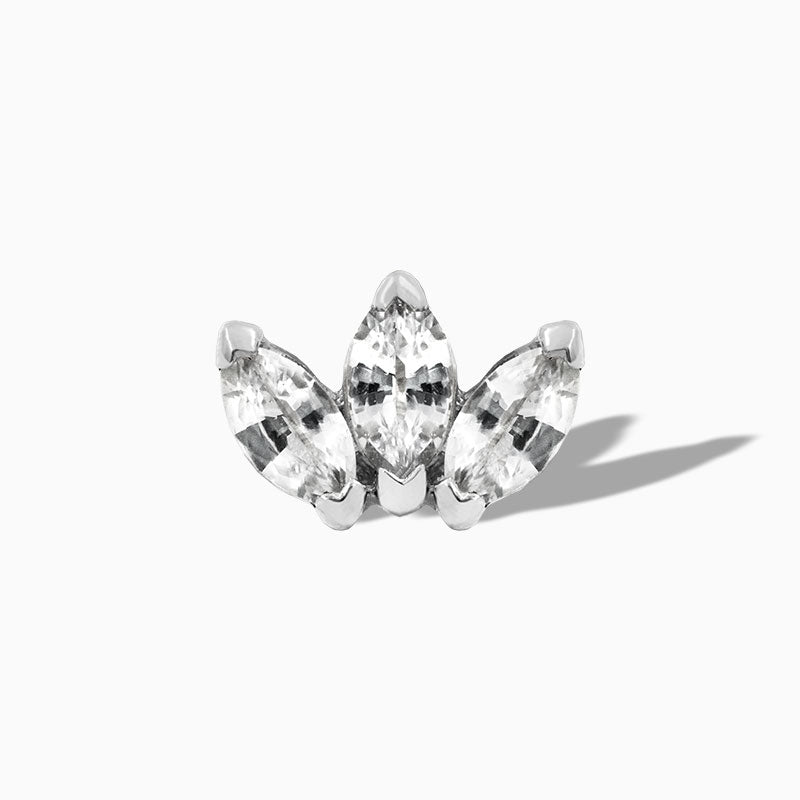 CZ Triple Marquise in 14k White Gold by Junipurr