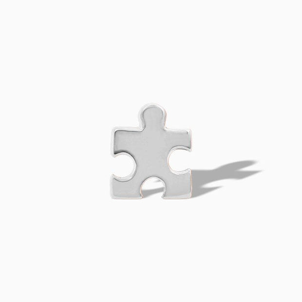 Puzzle Piece in 14k Gold by Junipurr