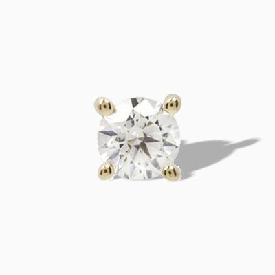Genuine Diamond Prong  in 14k Gold by Buddha Jewelry
