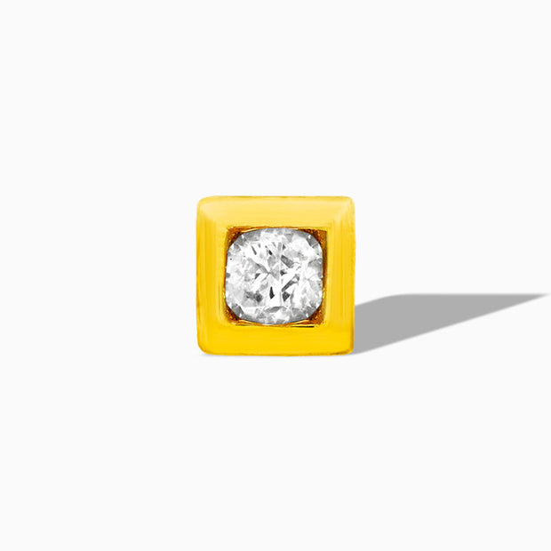 Swarovski Square Bezel in 14k Gold by Junipurr
