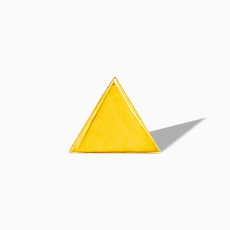 Triangle in 14k Yellow Gold by Junipurr