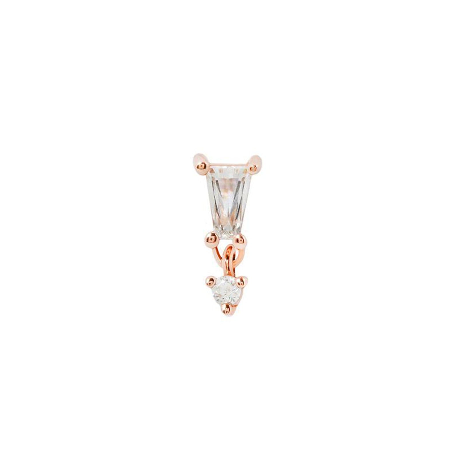 Yves Dangle in 14k Rose Gold by Buddha Jewelry