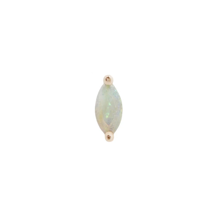Zuri Marquise Opal End in 14k Rose Gold by Buddha Jewelry