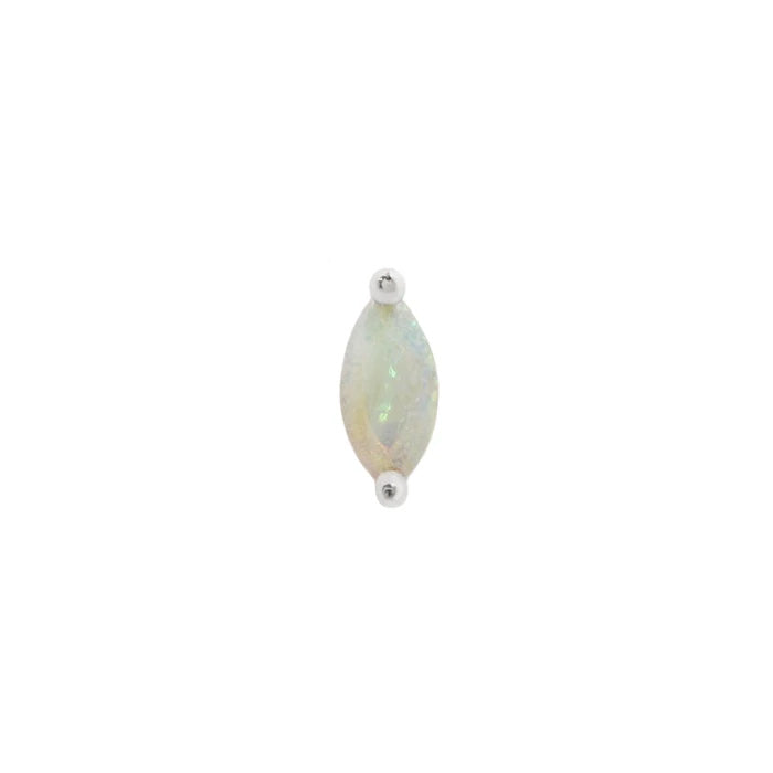 Zuri Marquise Opal End in 14k White Gold by Buddha Jewelry