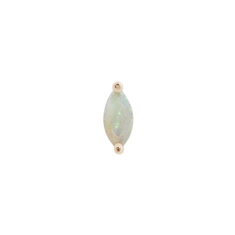 Zuri Marquise Opal End in 14k Yellow Gold by Buddha Jewelry