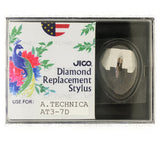 JICO replacement Audio-Technica AT3-7D stylus in packaging