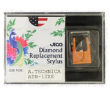 JICO replacement Stylus for Audio-Technica AT-3312XE AT3312XE cartridge in packaging