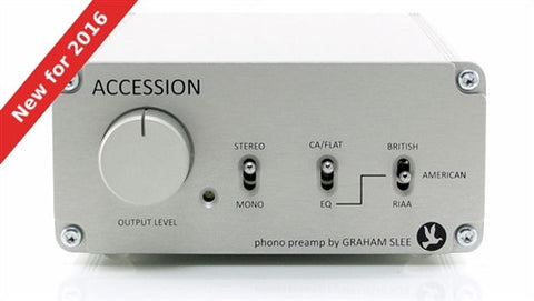 Graham Slee Accession phono preamp in white