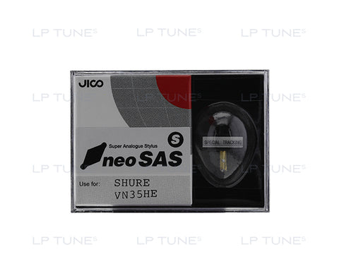 JICO VN35HE neoSAS/S stylus replacement for Shure VN35HE stylus in packaging