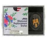 JICO replacement Ortofon NF15XE Type 2 stylus in packaging