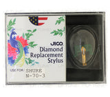 JICO 78 RPM replacement for Shure N70-3 stylus in packaging