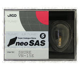 JICO neoSAS/S replacement Shure VN-15E stylus in packaging