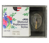JICO replacement Shure VN-3G stylus in packaging