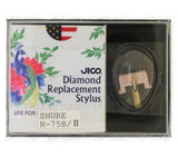 JICO replacement stylus for Shure ME75EJ cartridge in packaging