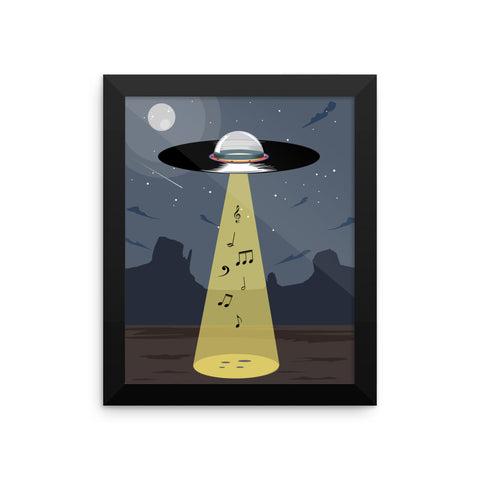 UFO Vinyl - Music Out of This World - Poster