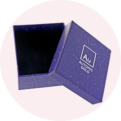 Eco-Friendly Automic Gold Jewelry Gift Box with Star Map