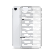 Waves in White iPhone Case