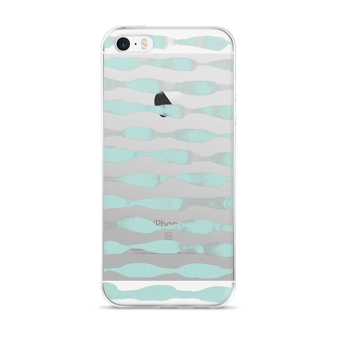 Waves in Teal iPhone Case