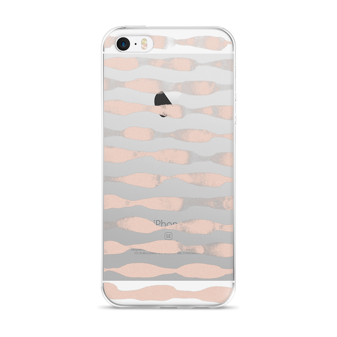 Waves in Blush iPhone Case