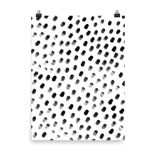 Dots on White Art Print