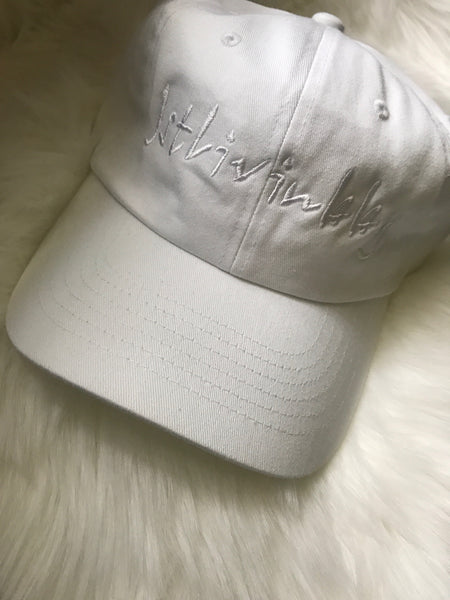 White Fitted Cap OS