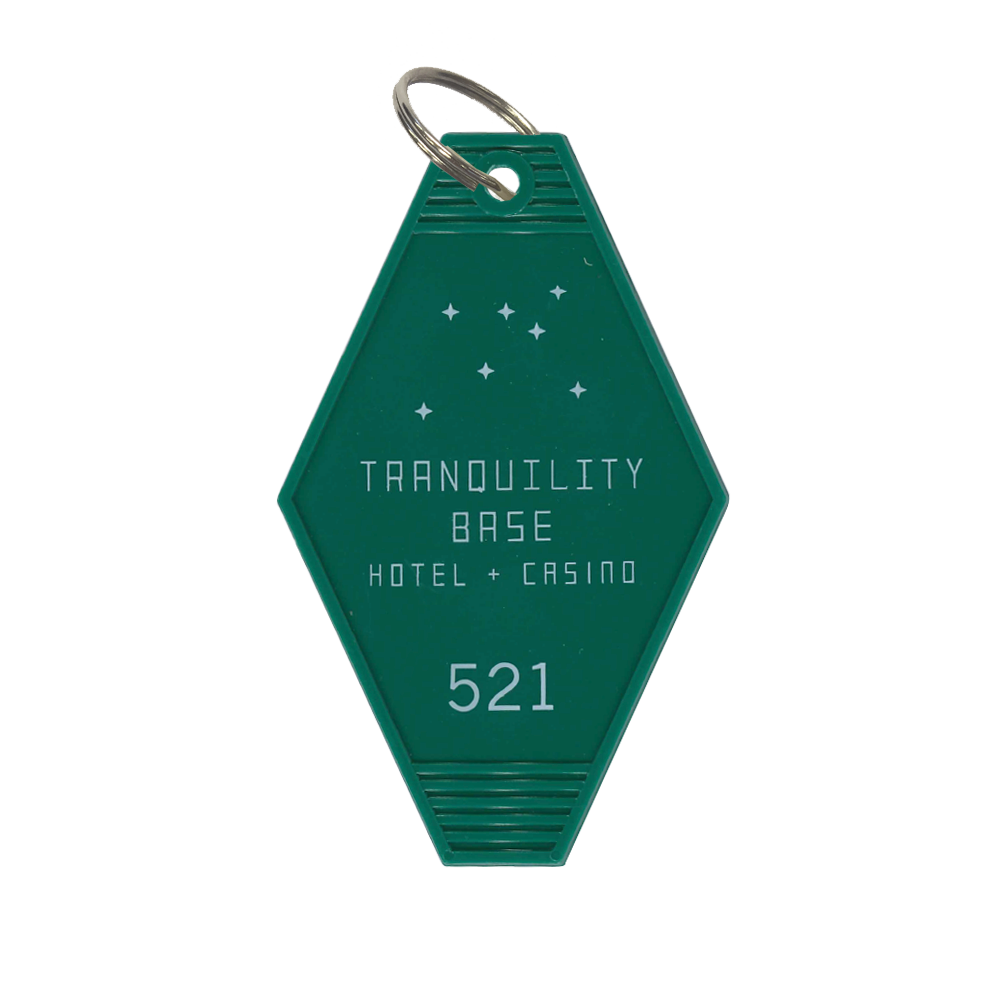 'TRANQUILITY BASE HOTEL + CASINO' KEY RING (GREEN)