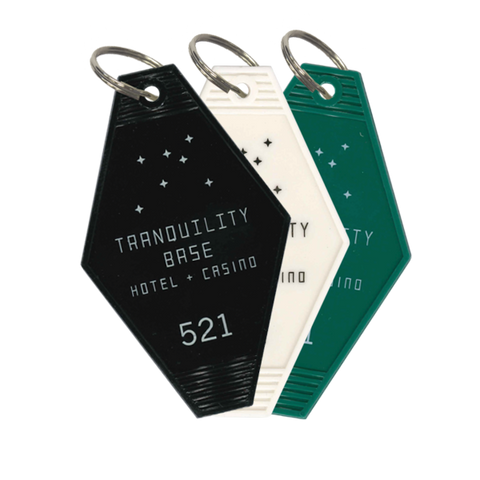 'TRANQUILITY BASE HOTEL + CASINO' KEY RING TRIO