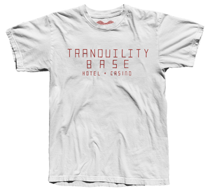 'TRANQUILITY BASE HOTEL + CASINO' T-SHIRT (WHITE)