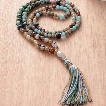 Colorful Tassel Boho Necklace
