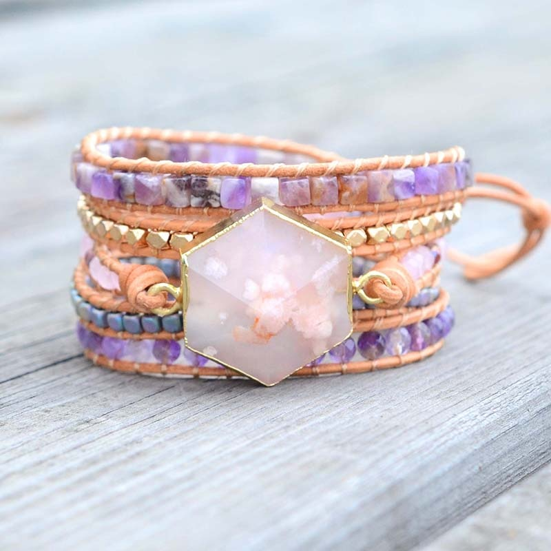 Cherry Blossom Happiness Wrap Bracelet
