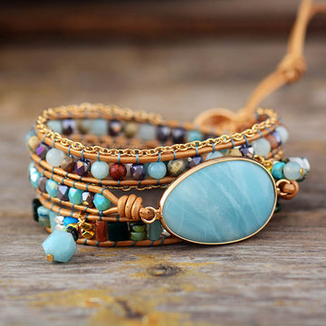 Amazonite Dream Healing Wrap Bracelet